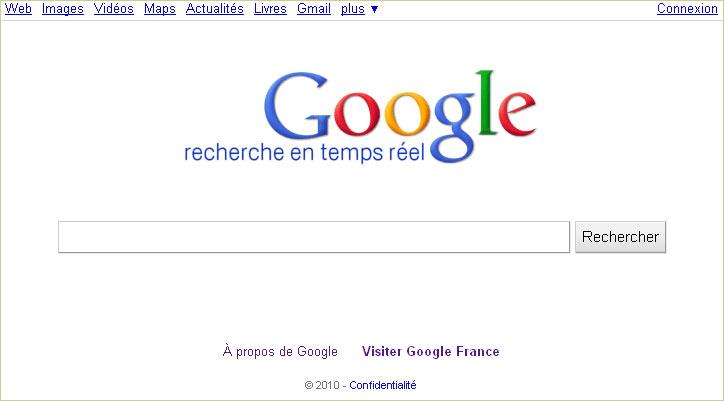 Google propose la recherche en temps réel
